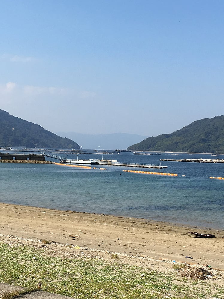 遠くに霞む広島