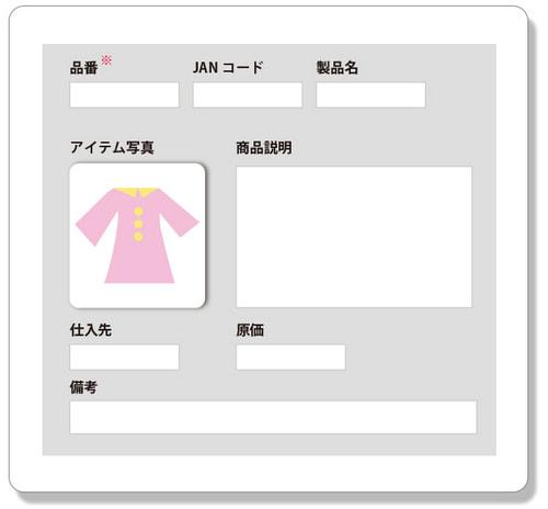 商品管理のイメージ図