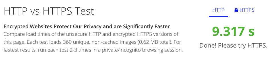 HTTPの表示速度